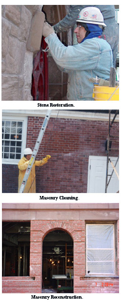 Masonry restoration and construction.